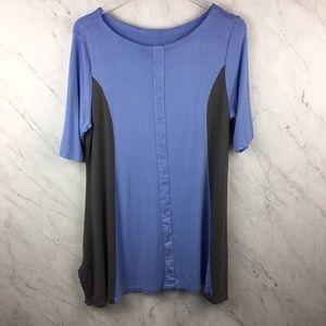 Soft Surroundings Blue & Grey Tunic, Size L